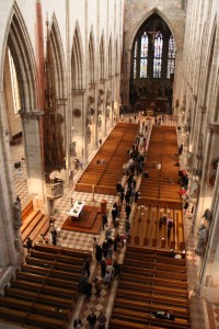 Blick von der Orgelempore in das Münster
